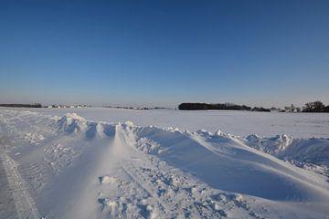 Sneeuwjacht bij Neukamp, Putbus, eiland Rügen van GH Foto & Artdesign