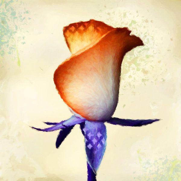 Rose, abstract van Marion Tenbergen
