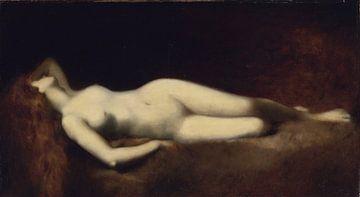 Nackt auf einem Liegestuhl, Jean-Jacques Henner von Atelier Liesjes