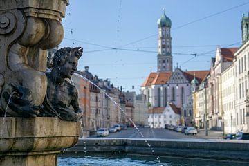 Hercules fontein Maximilianstrasse Augsburg van Melanie Jahn