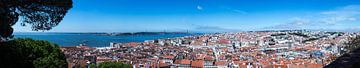 Lissabon Panorama (Portugal) van Whitney van Schyndel