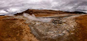 Hverir in ijsland (vulkanisch) van Michael Bollen