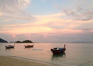 Sonnenuntergang Thailand van