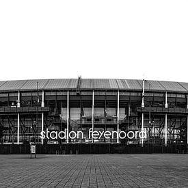 Stadion Feyenood (De Kuip) in Rotterdam van Mark De Rooij