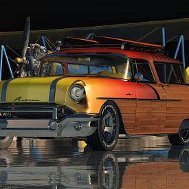 Pontiac Safari Station Wagon Surfer Edition de 1956 sur Jan Keteleer