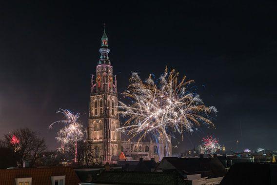 Vuurwerk bij de Grote Kerk vna Breda van Esmeralda holman