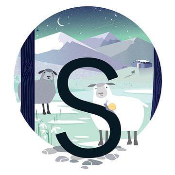 S: Schapen in de sneeuw van Hannahland .