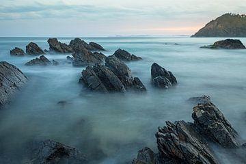 De rotsformatie van de Australische oostkust