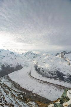 Gornergletscher in den Walliser Alpen von Martin Steiner