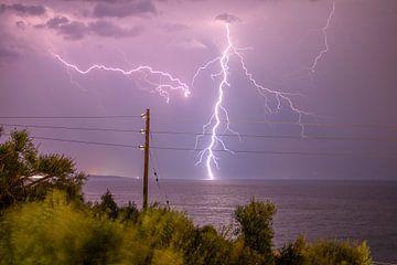 Onweer in Griekenland van Vincent Alkema