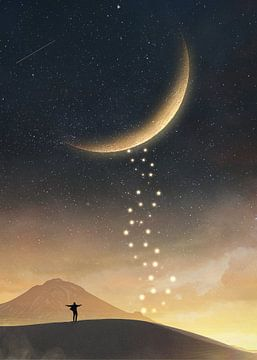 Surrealer Mond von Alexander Tropmann