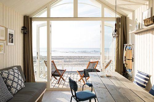 Haags Strandhuisje avec vue sur la mer