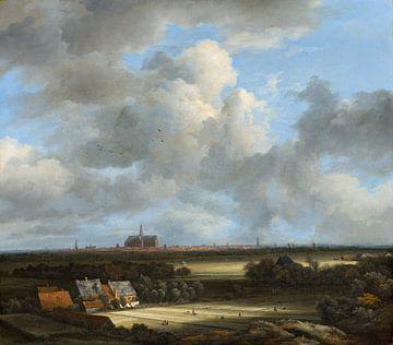 Gezicht op Haarlem met bleekvelden, Jacob van Ruisdael van