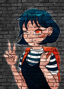 Schul Girl Anime Manga von KalliDesignShop