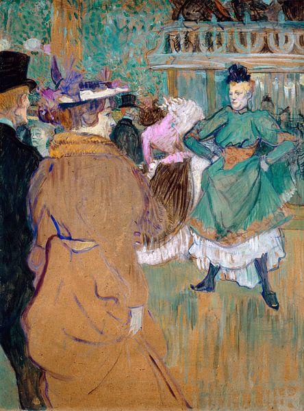 Quadrille bij de Moulin Rouge, Henri de Toulouse-Lautrec van Liszt Collection