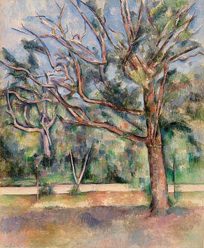 Bäume und Straße, Paul Cézanne (1890)
