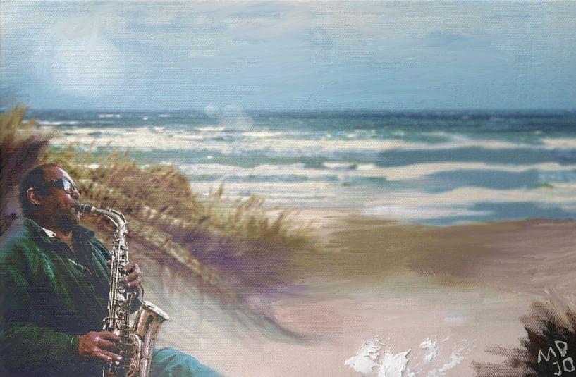 het strand van ijmuiden   van MD JO