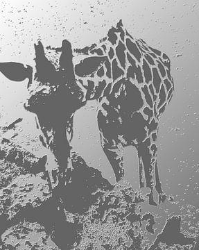 Giraffe - zwart/wit von PictureWork - Digital artist