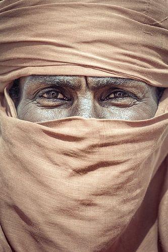 Portret van een Toeareg in de Sahara | Libië