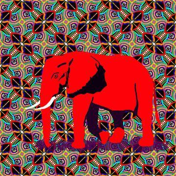 Afrikanischer Elefant solo von Lida Bruinen