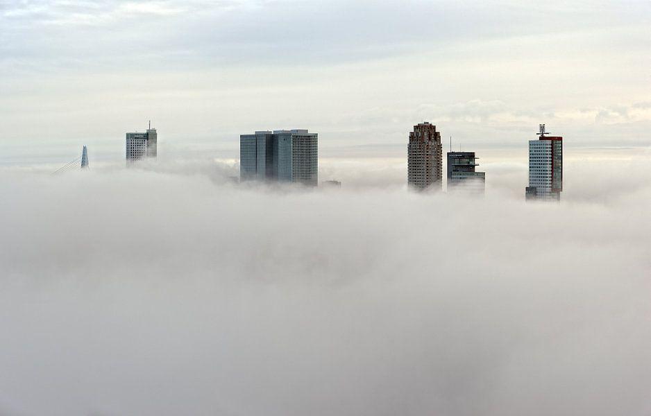 Mistige maandag | Rotterdam in de mist van Rob de Voogd / zzapback