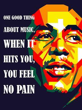 Pop Art Bob Marley von Jan Willem van Doesburg
