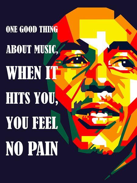 Pop Art Bob Marley von Doesburg Design