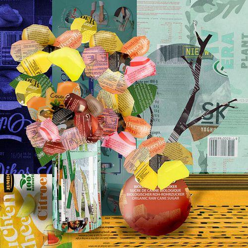 Voorjaar in geel en rose