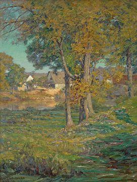 John Ottis Adams~Thornberry's Pasture, Brooklyn, Indiana (Eine Farm in Indiana)