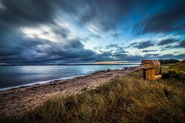Strandstoel aan de Oostzee van Marcus Lanz