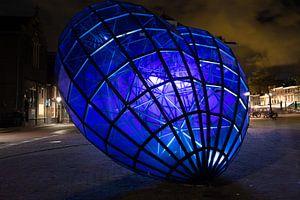 Blauwe Hart Delft bij nacht van Gertjan Hesselink