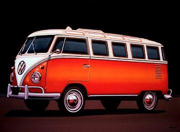 Volkswagen  Transporter T1 Samba Schilderij van Paul Meijering