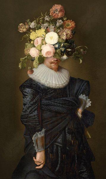 Portrait of a Man sur Marja van den Hurk