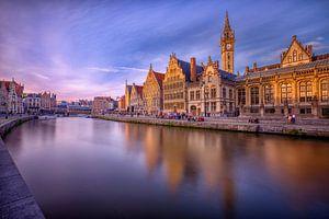 Zonsondergang in Gent
