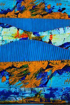 Wandbild in Farben Blau von Klaus Heidecker