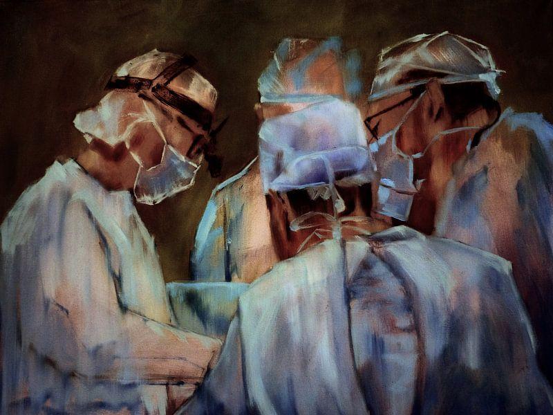 Schilderij, 3 - Chirurgen. van Alies werk