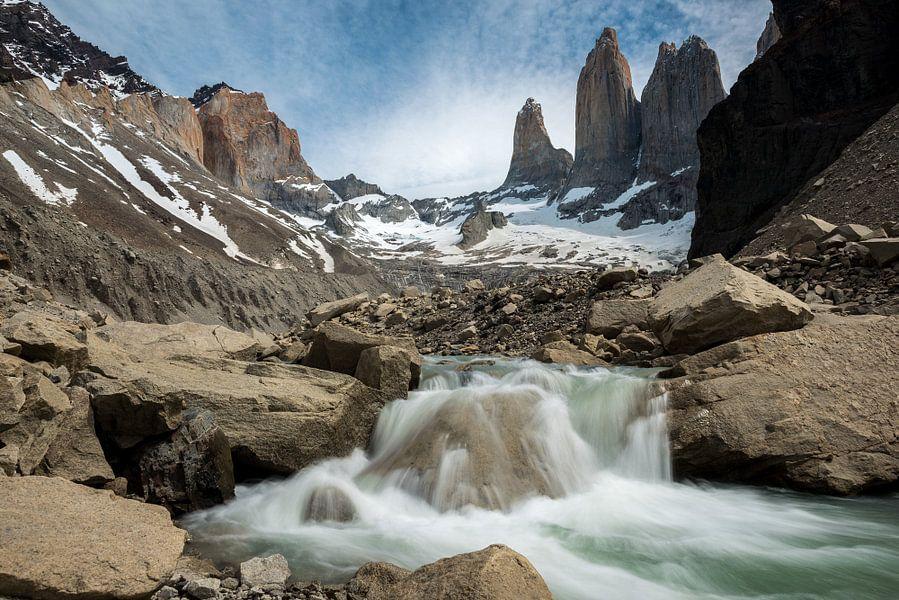 Torres del Paine, de blauwe torens von Gerry van Roosmalen