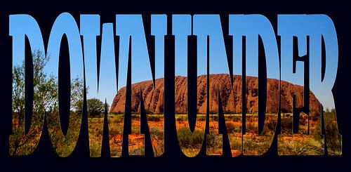 Down Under, Uluru, symbool van Australië van Rietje Bulthuis