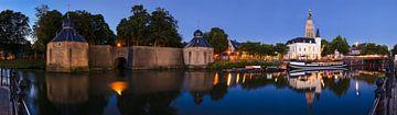 Panorama Breda Spanjaardsgat bij avondlicht van JPWFoto