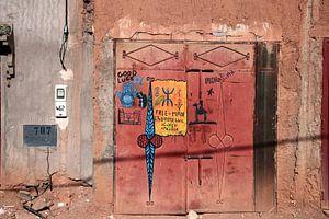 Deur in Zuid Marokko.