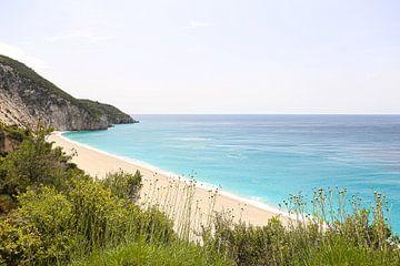 Milos Beach / Griechische Insel Lefkada von Shot it fotografie