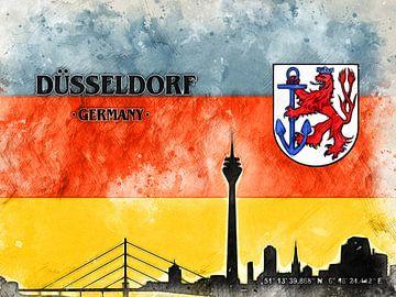Düsseldorf von Printed Artings