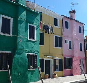 Schattige gekleurde huisjes van