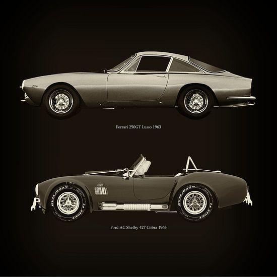 Ferrari 250GT Lusso 1963 en Ford AC Shelby 427 Cobra 1965