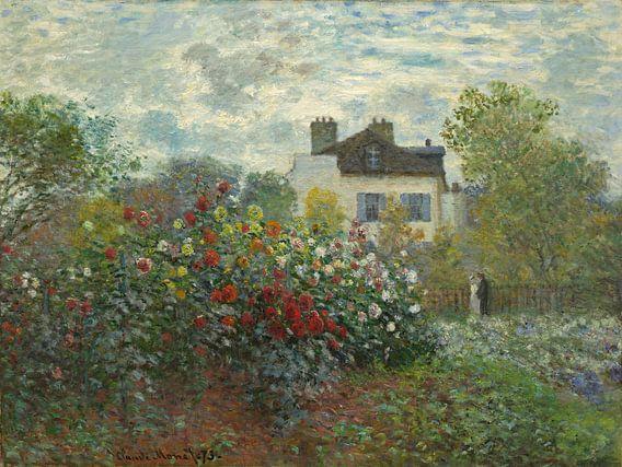 Claude Monet: De tuin van Monet in Argenteuil  van Meesterlijcke Meesters