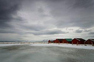 Strandhuisjes op de Lofoten