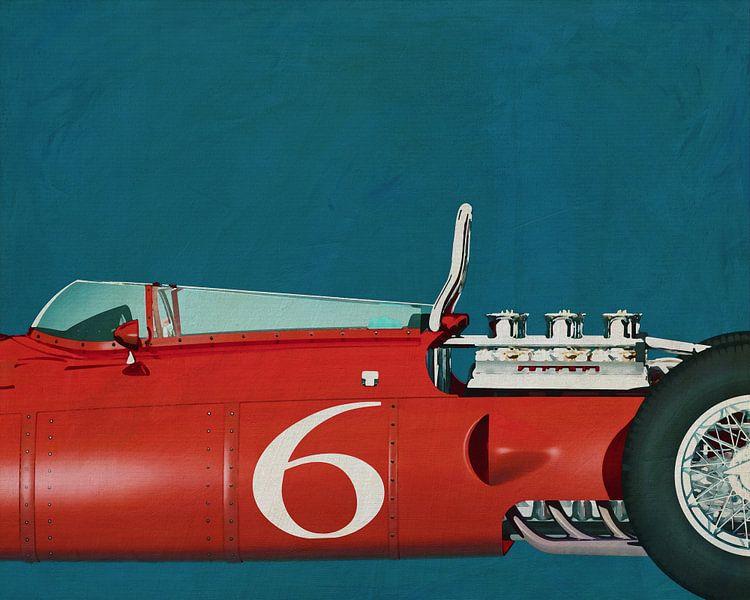 Ferrari 156 Shark Nose 1961 Close Up van Jan Keteleer