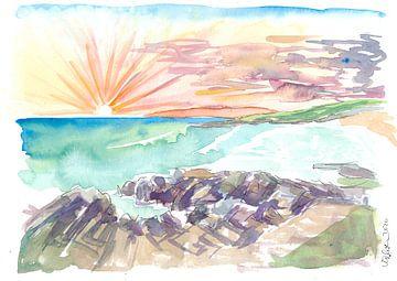 Raue romatische Küstenlinie Äußere Hebriden Harris Schottland von Markus Bleichner