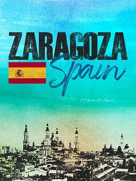 Saragossa Spanien von Printed Artings