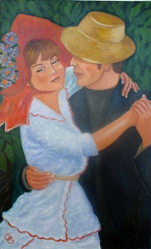 Dancing couple. van Gloria Gill